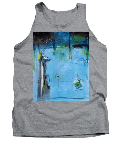 Tank Top featuring the painting Winter by Nicole Nadeau
