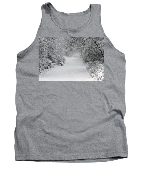 Tank Top featuring the photograph Winter's Trail by Elizabeth Winter