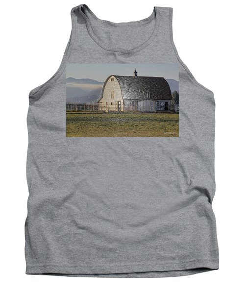 Tank Top featuring the photograph Wrapped Barn by Mick Anderson