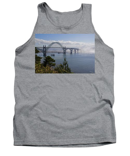 Yaquina Bay Bridge Tank Top by Mick Anderson