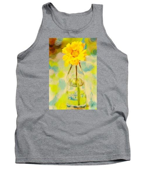 Yellow Flower Tank Top by Toni Hopper