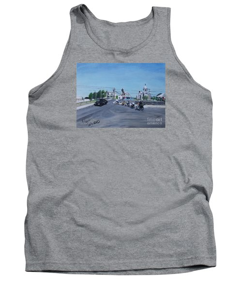 Family Cycling Tour Tank Top by Francine Heykoop