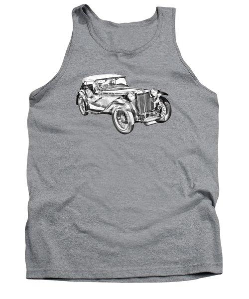 Mg Tc Antique Car Illustration Tank Top