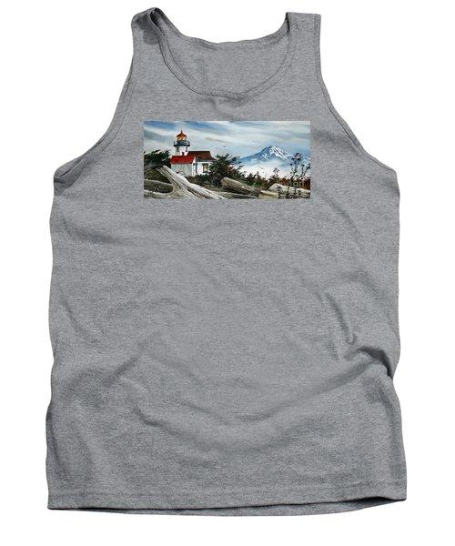 Point Robinson Lighthouse And Mt. Rainier Tank Top