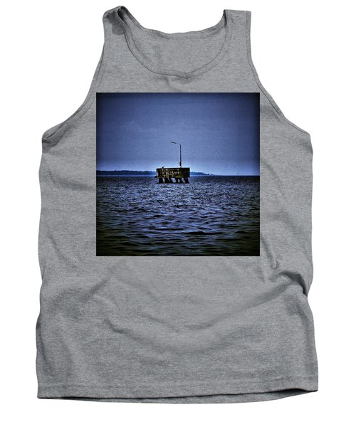 Tank Top featuring the photograph  The Dock Of Loneliness by Jouko Lehto