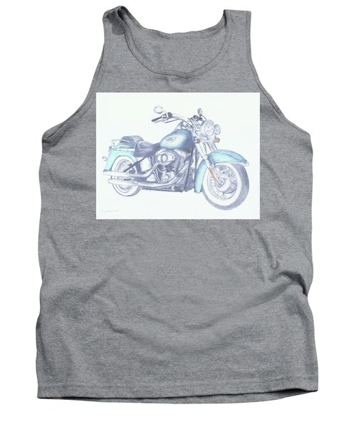 Tank Top featuring the drawing 2015 Softail by Terry Frederick