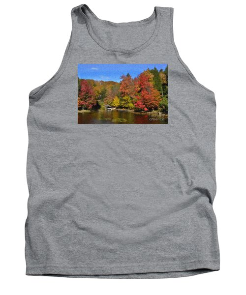 Tank Top featuring the painting A Little Piece Of Adirondack Heaven by Diane E Berry