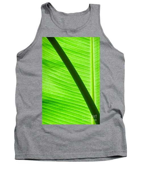 Tank Top featuring the photograph Abstract Banana Leaf by Yurix Sardinelly