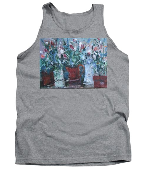 Abstract Flowers Tank Top