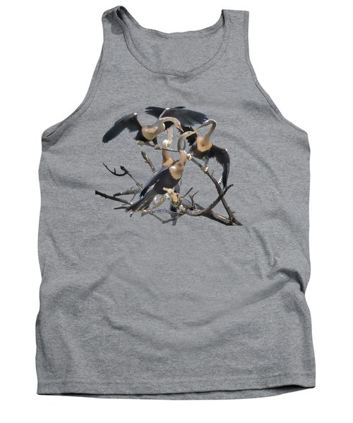 Anhinga Feeding Time Transparency Tank Top