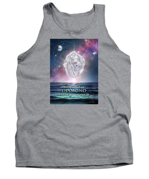 April Birthstone Diamond Tank Top