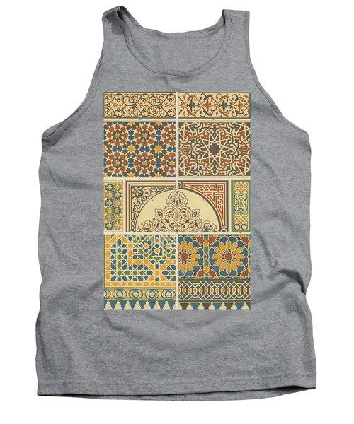Arabian-moresque, Mosaic Textile Pattern Tank Top