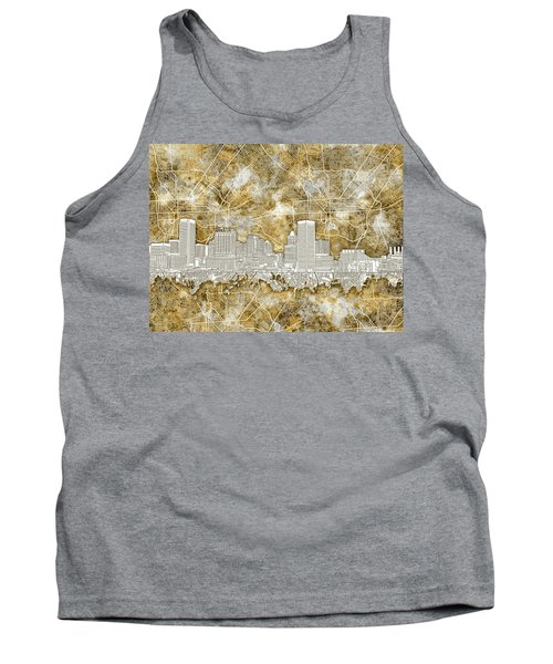 Tank Top featuring the painting Baltimore Skyline Watercolor 13 by Bekim Art