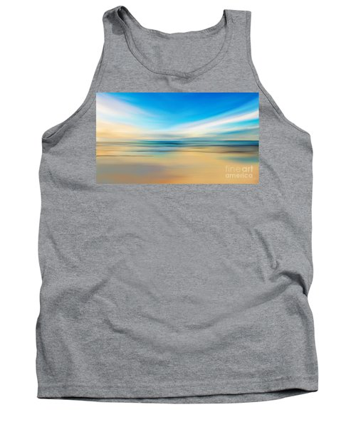 Tank Top featuring the digital art Beach Sunrise by Anthony Fishburne