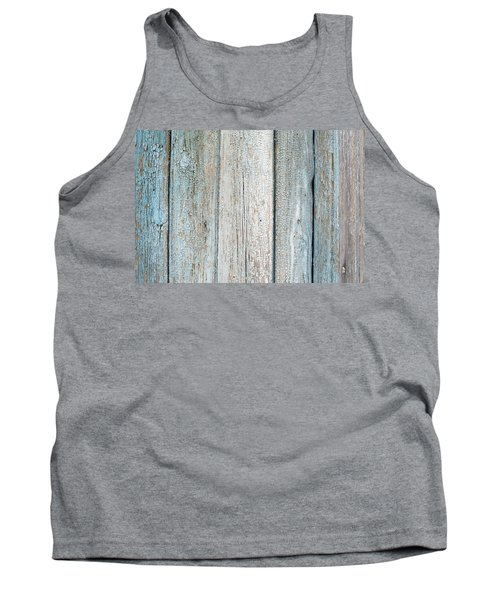 Tank Top featuring the photograph Blue Fading Paint On Wood by John Williams
