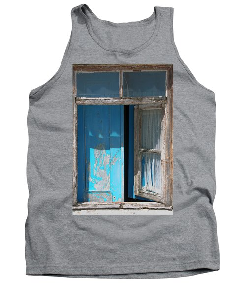 Blue Window Tank Top by Edgar Laureano