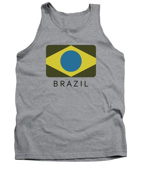 Brazil Flag Tank Top