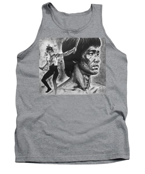 Tank Top featuring the painting Bruce Lee by Darryl Matthews