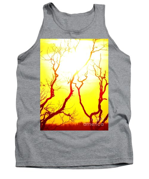 Tank Top featuring the photograph Burning Sunset by Justin Moore