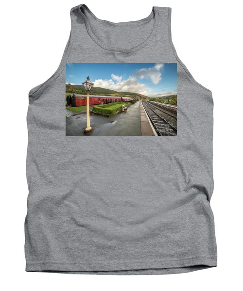 Tank Top featuring the photograph Carrog Railway Station by Adrian Evans