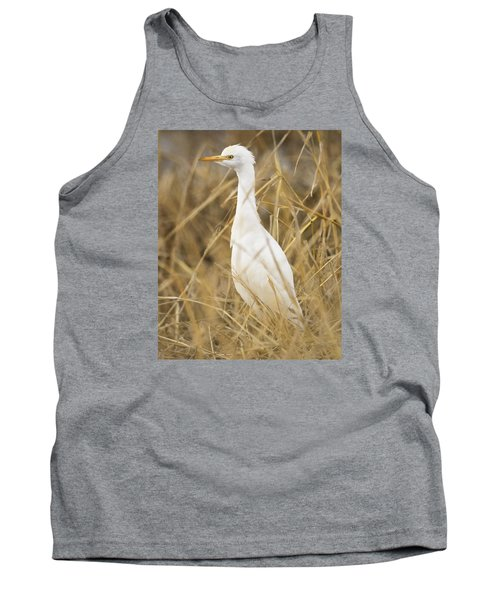 Tank Top featuring the photograph Cattle Egret by Doug Herr