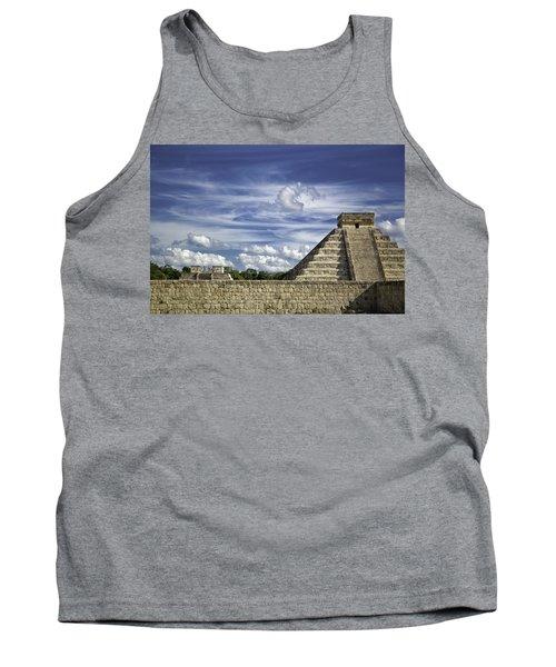 Chichen Itza, El Castillo Pyramid Tank Top by Jason Moynihan