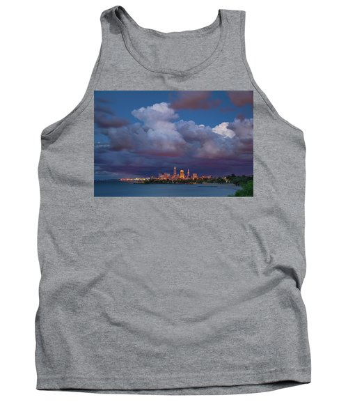 Tank Top featuring the photograph Cleveland Skyline  by Emmanuel Panagiotakis