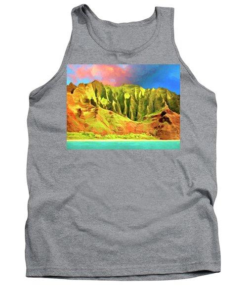 Cliffs On The Na Pali Coast Tank Top
