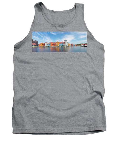 Colorful Buildings Tank Top by Hans Engbers