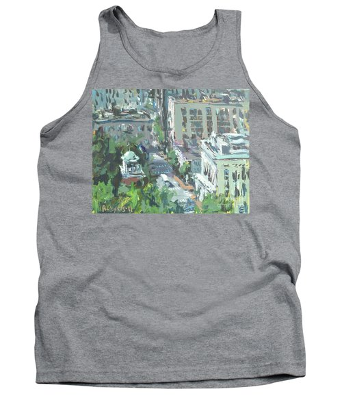 Contemporary Richmond Virginia Cityscape Painting Tank Top