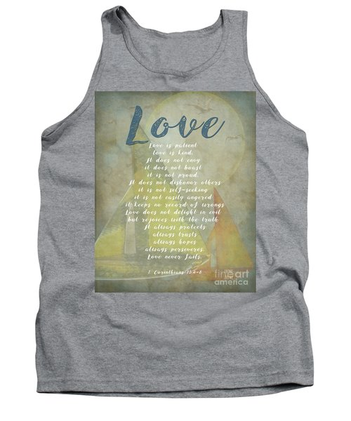 1 Corinthians 13 4-8 Love Is Patient Love Is Kind Wedding Verses. Great Gift For Men Or Home Decor. Tank Top