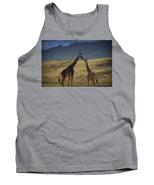 Tank Top featuring the photograph Desert Palm Giraffe 001 by Guy Hoffman