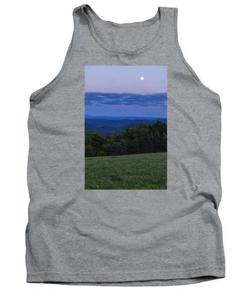 Tank Top featuring the photograph East Dover Full Moon by Tom Singleton