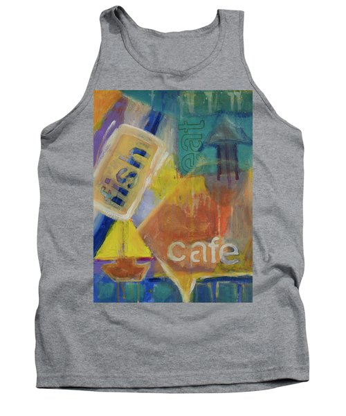 Tank Top featuring the painting Fish Cafe by Susan Stone