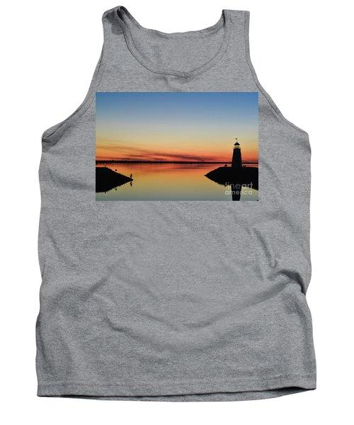 Fishing At Sunset Tank Top