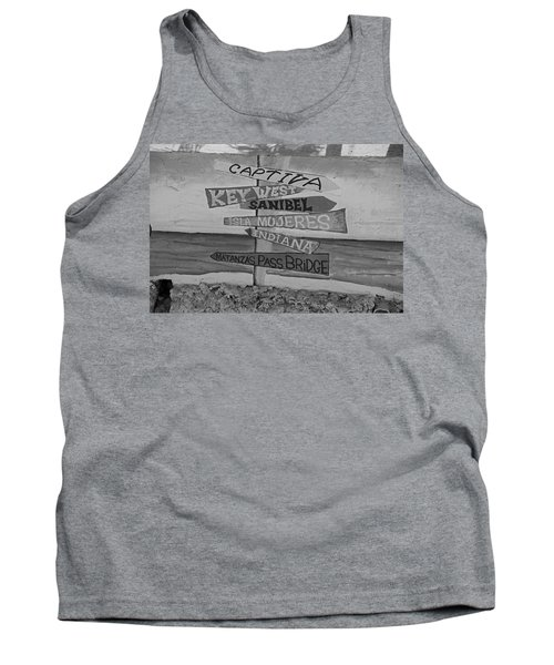 Fort Myers Beach Mural Tank Top by Michiale Schneider