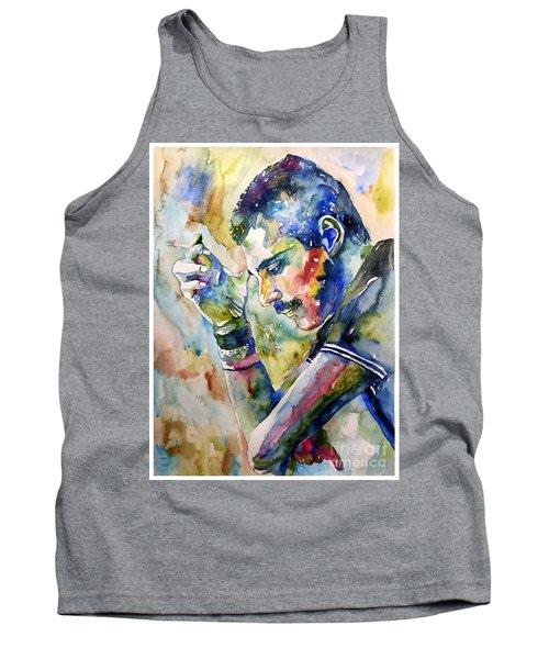 Freddie Mercury Watercolor Tank Top