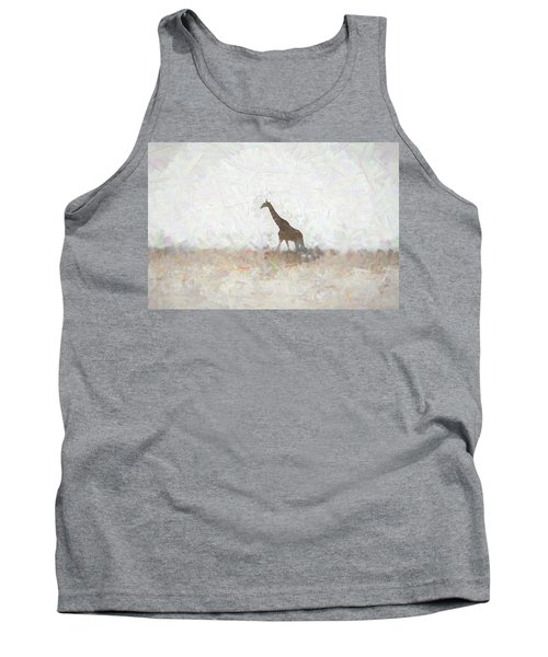 Tank Top featuring the digital art Giraffe Abstract by Ernie Echols