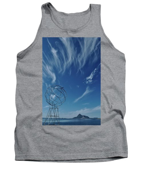 Globe Symbol View  On Sky Background In Norway Tank Top