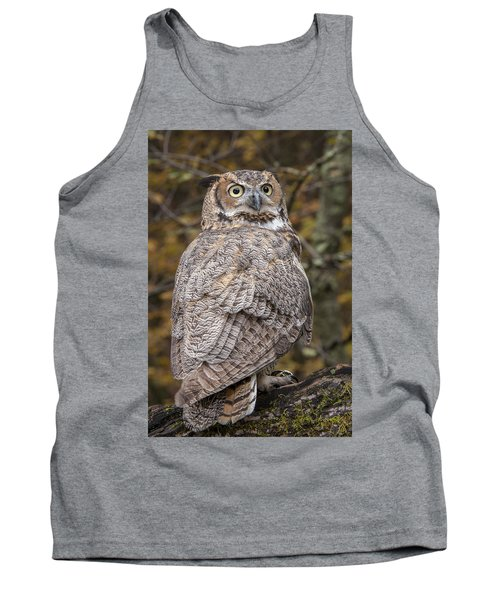 Great Horned Owl Tank Top by Tyson Smith