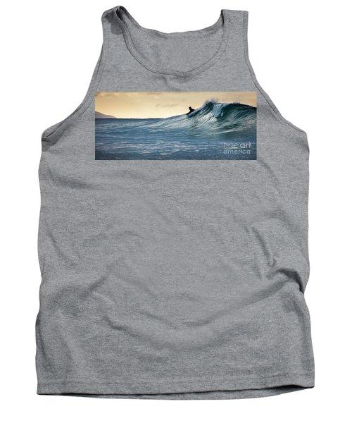 Hawaii Bodysurfing Sunset Polihali Beach Kauai  Tank Top