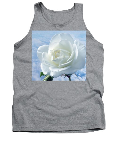 Heavenly White Rose. Tank Top by Terence Davis