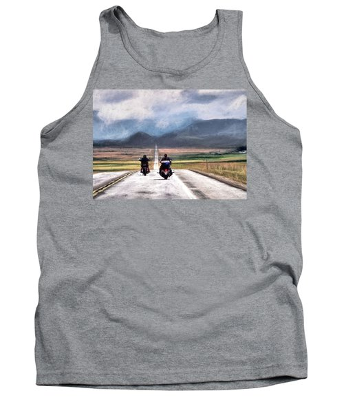 Tank Top featuring the photograph Highway In The Wind by Jim Hill