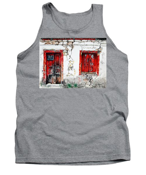 Tank Top featuring the painting House For Sale by Maria Barry
