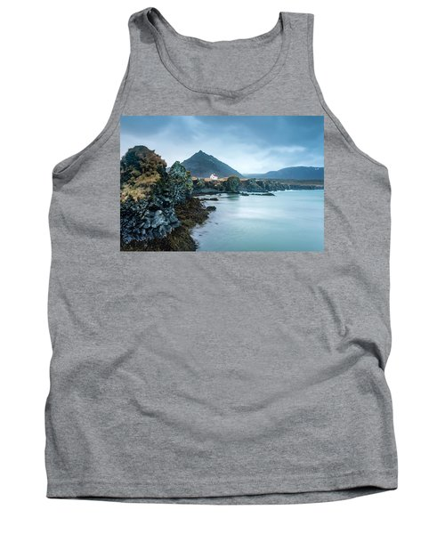 House On Ocean Cliff In Iceland Tank Top by Joe Belanger