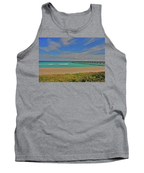 Tank Top featuring the photograph 1- Juno Beach Pier by Joseph Keane