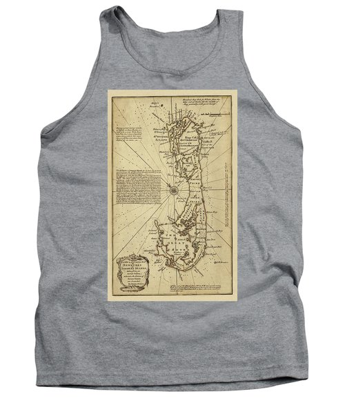 Map Of Bermuda 1750 Tank Top by Andrew Fare
