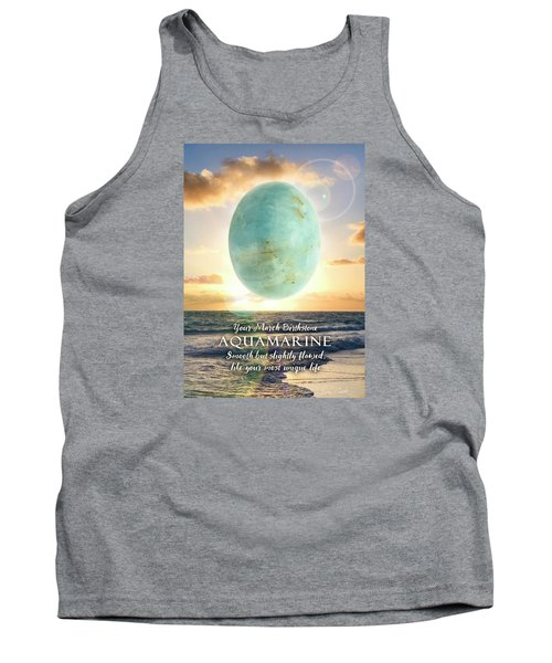 March Birthstone Aquamarine Tank Top by Evie Cook