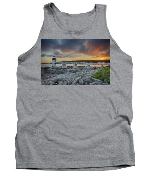 Marshall Point Lighthouse At Sunset, Maine, Usa Tank Top