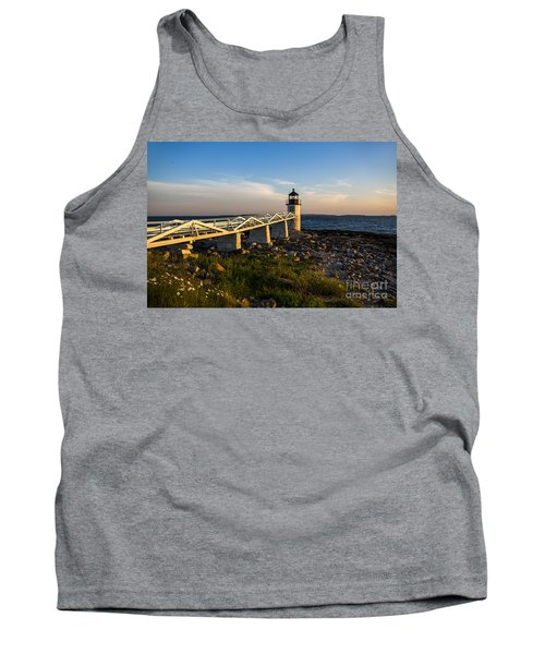 Marshall Point Lighthouse Tank Top by Diane Diederich